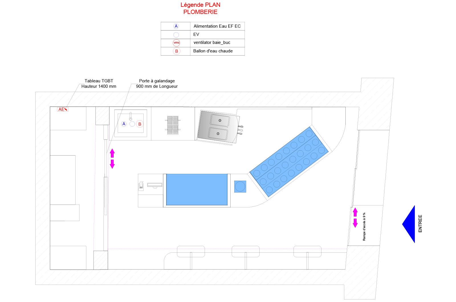 Plan Porte À Galandage conception 2d - architecture & aménagement d'espaces